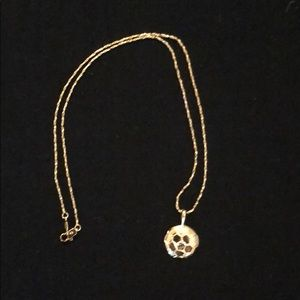 Jewelry - Gold Plated Soccer Ball Pendant with 18 inch Chain